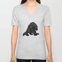 Crouching Werewolf Unisex V-Neck