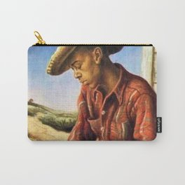 Classical Masterpiece 'The Waterboy' by Thomas Hart Benton Carry-All Pouch