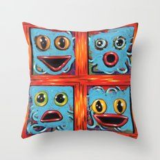 blue squad quad formation Throw Pillow