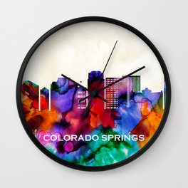 Colorado Springs Skyline Wall Clock
