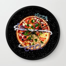 Pizza is cool Wall Clock