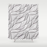 arya stark Shower Curtains featuring Stark Waves by SonyaDeHart