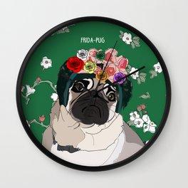 Frida-Pug Wall Clock