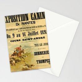 affisso exposition canine de nantes. 1895 Stationery Cards