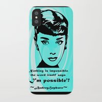 audrey iPhone & iPod Cases featuring Audrey by SwanniePhotoArt