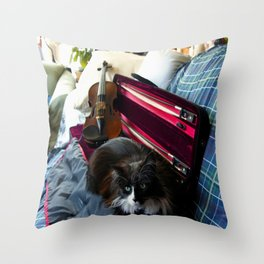 The Cat and the Fiddle (Gracie Queen of Chicago Collection) Throw Pillow