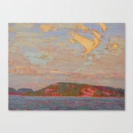 Tom Thomson View over a Lake, Autumn 1916 Canadian Landscape Artist Canvas Print