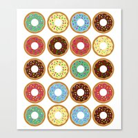 donuts Canvas Prints featuring Donuts!! by Ron Trickett