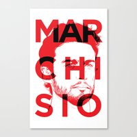 juventus Canvas Prints featuring MARCHI by Vectdo