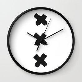 Amsterdam Crosses Wall Clock