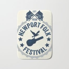 1959 Newport Folk Festival Emblem Poster Bath Mat