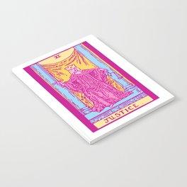 Justice - A Femme Tarot Card Notebook