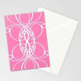 Pink White Swirl Stationery Cards