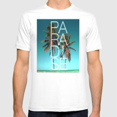 PARADISE MEDIUM Mens Fitted Tee White