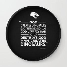 God Creates Dinosaurs Wall Clock