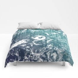 Inky Shadows - Blue edition Comforters