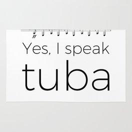Tuba oompas (white) Rug