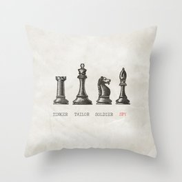 Tinker Tailor Soldier Spy Throw Pillow