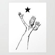 Lazarus 3 - Bowie Blackstar tribute Art Print