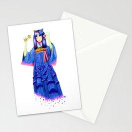 Japanese Girl with Kendama Stationery Cards
