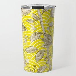 Lemons Pattern (yellow) Travel Mug
