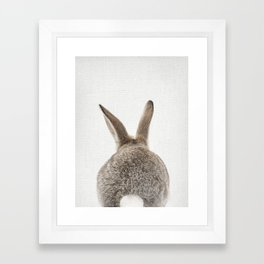 Bunny Tail Framed Art Print