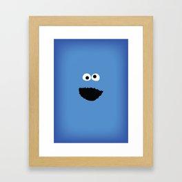 SESAME STREET cookie monster Framed Art Print