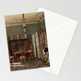 The Morning Room Of The Palais Lanckoronski Vienna 1881 by Rudolf von Alt | Reproduction Stationery Cards