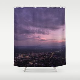 Asheville Stormy Nights Passing By Shower Curtain