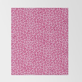 Leopard - Lilac and Pink Throw Blanket