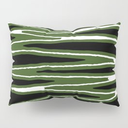 Sketched Wavy Stripes Pattern Pillow Sham