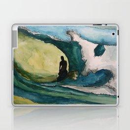 Watercolor Surfer Laptop & iPad Skin