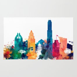 Austin Watercolor Skyline Rug