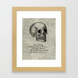 Shakespeare - Hamlet - What Dreams May Come Framed Art Print