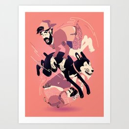 Over, Under, and Through Art Print