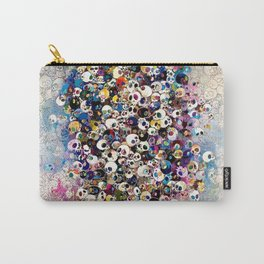 Takashi Murakami - Who's Afraid Of Red, Yellow, Blue And Death Carry-All Pouch