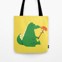 Dragon and Marshmallow Tote Bag
