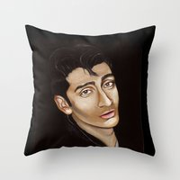 alex turner Throw Pillows featuring Alex Turner by Alfonso Aranda