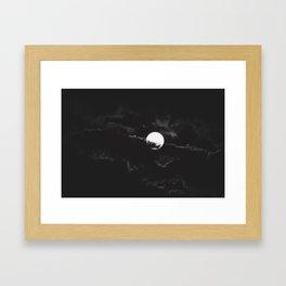 tonight's full moon Framed Art Print