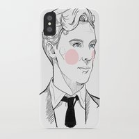 gentleman iPhone & iPod Cases featuring Gentleman by Sara E. Mayhew