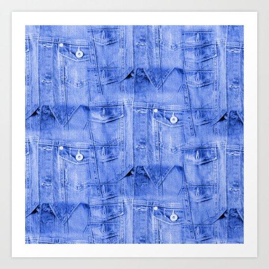 Denim Jacket Art Print