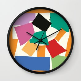 Colorful Collage Matisse Inspired Wall Clock