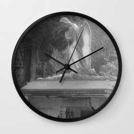 angel on the grave Wall Clock