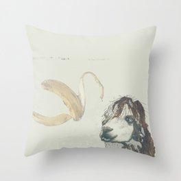 Lama banana Throw Pillow