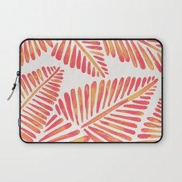 Tropical Banana Leaves – Pink & Peach Ombré Palette Laptop Sleeve