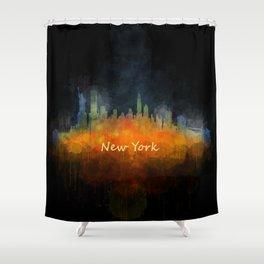 New York City Skyline Hq V04 Shower Curtain