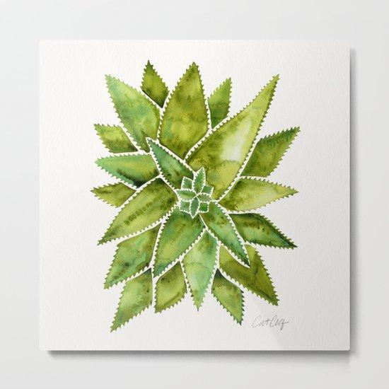 Aloe Vera – Green Palette Metal Print