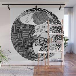 Gustav Klimt - The kiss Wall Mural