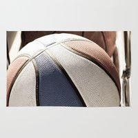 basketball Area & Throw Rugs featuring Basketball by SShaw Photographic