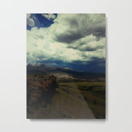 Storm Creeping into South Fork Metal Print